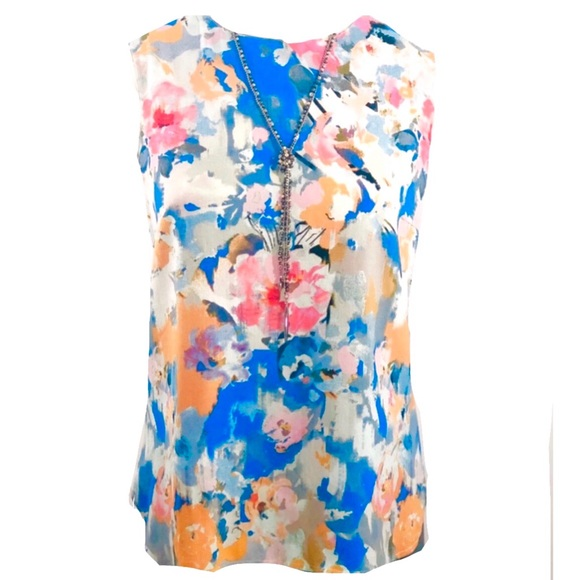 Rose & Olive Tops - Rose & Olive XL Sleeveless Floral Top.